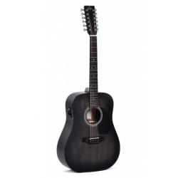 Sigma Guitars DM12E-BKB+
